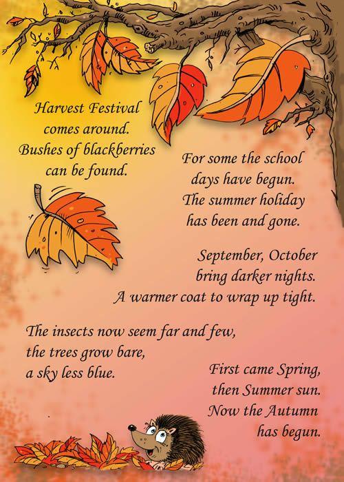 Harvest Festival preschool activity card & rhymes