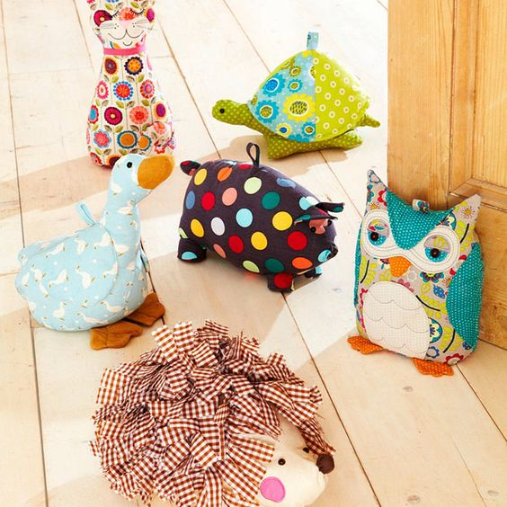 animal shaped doorstops by ulster weavers | notonthehighstreet.com / Must find my patterns file: