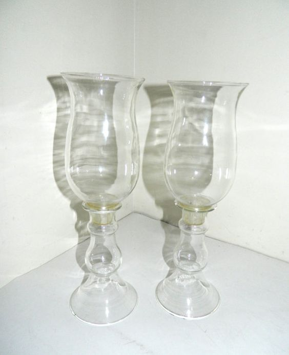 Vintage Pyrex Corning 4 Pc Clear Glass Candle by AbsoluteUsed, $24.99