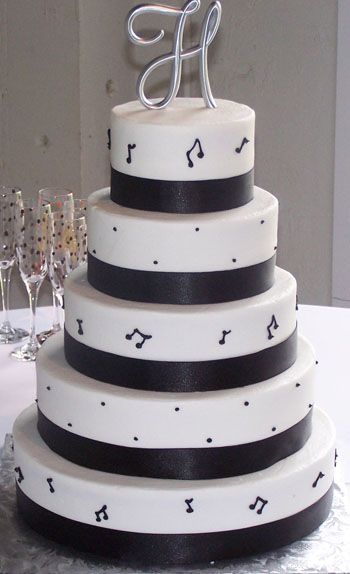 Cute! maybe music note ribbon instead of frosting music notes?