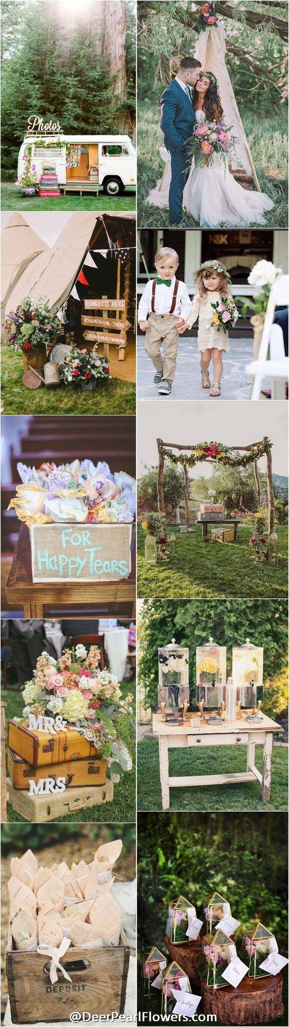 Vintage bohemian wedding theme ideas / http://www.deerpearlflowers.com/vintage-bohemian-wedding-ideas/