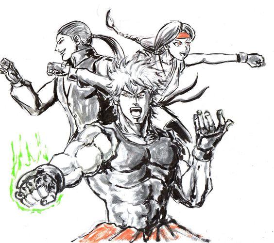 Inktober⑭-龍虎の拳~燃えろ!極限流を受け継ぐ者達~/Horoko