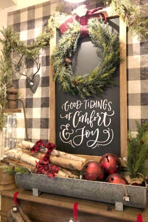 53 Affordable Farmhouse Christmas Decor Ideas On A Budget Christmas Table Decorations Diy Diy Christmas Table Farmhouse Christmas Decor