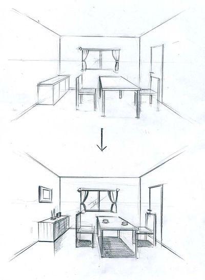 インテリアパース 建築パース インテリアデザインのスケッチ