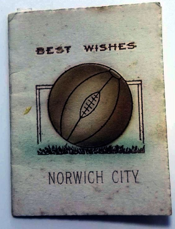 1908/09 Norwich City FC best wishes card