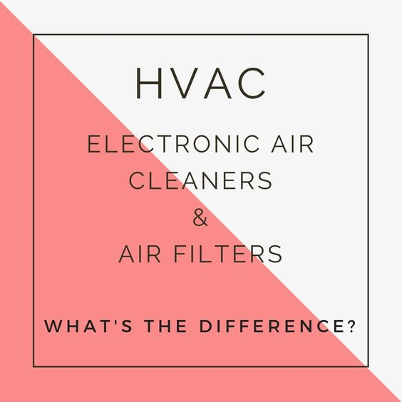 Electronic Air Cleaners And Hvac Air Filters What S The Difference Air Filter Electronic Air Filter Heating Air Conditioning