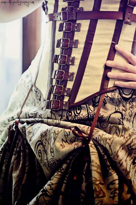 Lighter Steampunk corsetry.