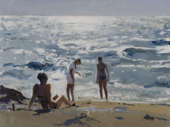 Three Girls on a Beach Bob Rudd: