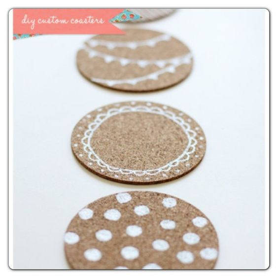 Wooden coasters and metallic paint pens DIY coasters