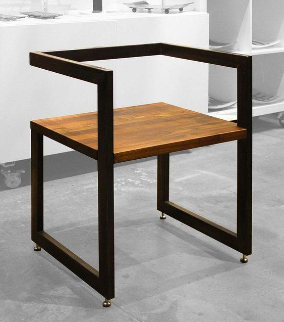 12 Elegant And Simple Chairs Made With Metal And Wood List12 In 2020 Chair Design Wooden Welded Furniture Iron Furniture