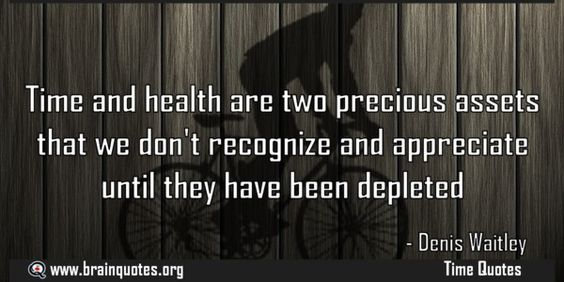 Time and health are two precious assets that we dont recognize and appreciate Time and health are two precious assets that we don't recognize and appreciate until they have been depleted For more #brainquotes http://ift.tt/28SuTT3 The post Time and health are two precious assets that we dont recognize and appreciate appeared first on Brain Quotes. http://ift.tt/2eycIWP