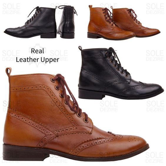 Ladies Lace Up Ankle Boots - Boot Hto