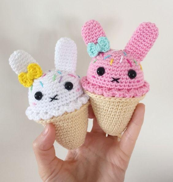 Amigurumi Cupcake Bunny : Bunny Ice Cream amigurumi pattern by Super Cute Design ...