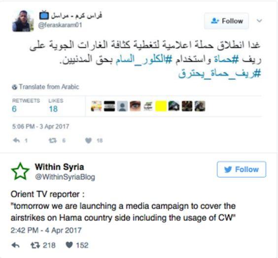 Der Giftgasangriff in Syrien dient dem Westen als Kriegsgrund. Prowestliche Rebellen wussten bereits Stunden vor der Attacke, dass es einen C-Waffen-Angriff geben würde.
