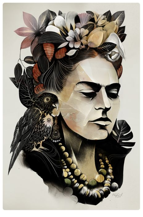 An amazing artist and figure. Something about Frida Kahlo has always resonated very strongly with me.