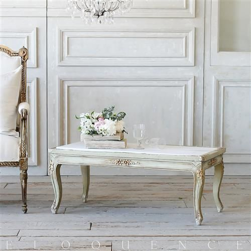 French Country Style Eloquence Vintage Coffee Table With Marble Top 1940 In 2020 Marble Top Coffee Table Coffee Table French Country Coffee Table