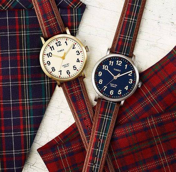 What adjective best describes: A well-dressed Man wearing a delightful Plaid Watch? .... SENSATIONAL ☺️ Plaid Watches are captivating! Visit www.LenMelekard.com/outfitideas.html for purchasing information.