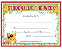Student of the week free templates because we care for Student of the week certificate template free