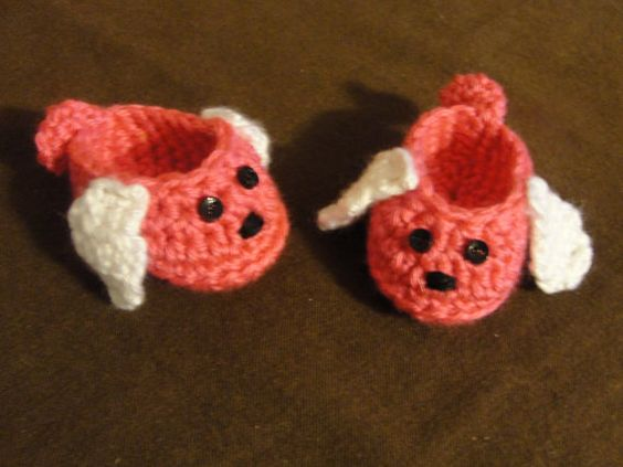 American Girl Doll size puppy slippers. Hot Pink. by bitsybeauty