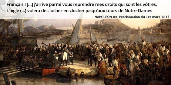 1er mars 1815, dernier défi perdu d'avance pour #Napoleon : les Cent-Jours  #histoire de #France en #citations