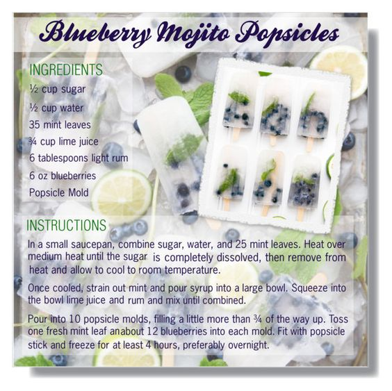 """""""BLUEBERRY POPSICLE MOJITO RECIPE"""" by larissa-takahassi ❤ liked on Polyvore featuring art, Summer, fresh, recipe, mojito and blueberrypopsicle"""