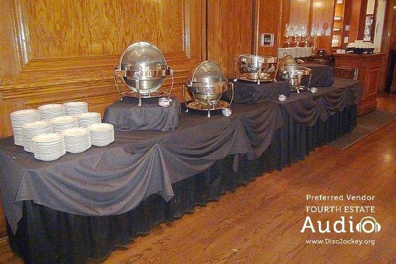 Maggiano's appetizer buffet, set up and ready. http://www.discjockey.org/real-chicago-wedding-march-5-2016/