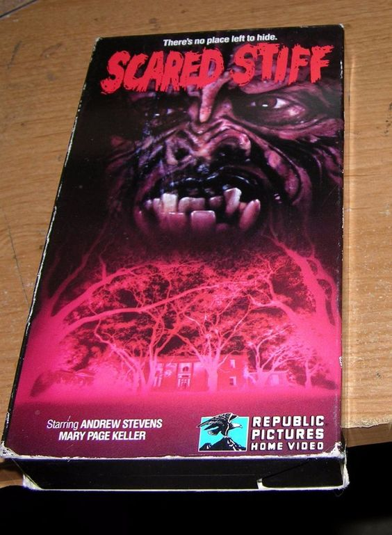 HORROR VHS SCARED STIFF 1988 ANDREW STEVENS MARY PAGE KELLER EXPLICIT SQUEAMISH
