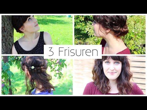 3 FRISUREN FÜR MITTELLANGE HAARE I SCHNELL, EINFACH, ELEGANT, BOHO - YouTube