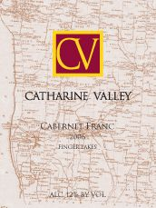 Catherine Valley Winery - Cabernet Franc - Aged for 1 year in American and French oak, this Cab Franc has a rich black cherry nose with subtle hints of vanilla and tobacco. A long green olive finish makes this an excellent food pairing table wine.