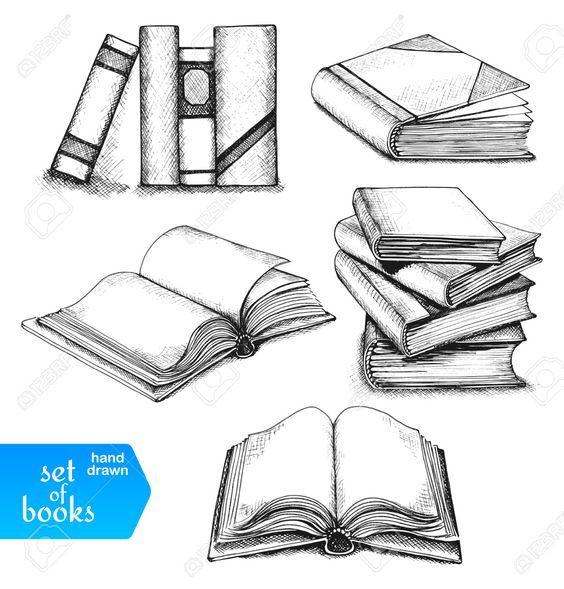 31367904 Libros Establecen Libros Abiertos Y Cerrados Los Libros En El Estante Libros Apilados Y Solo L Dibujo Libro Abierto Como Dibujar Un Libro Libro Dibujo
