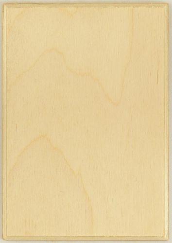 PLM26265 Thin Rectangular 5 x 3.5 Wood Plaque