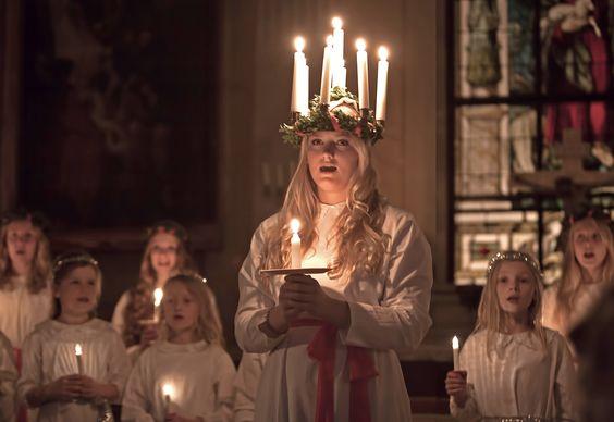 Fest der Heilogen Lucia in Schweden