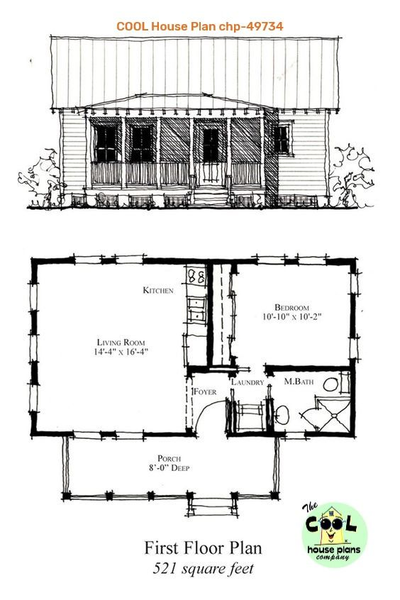 Weighing In At 521 Square Feet This Southern Cottage Design Is A