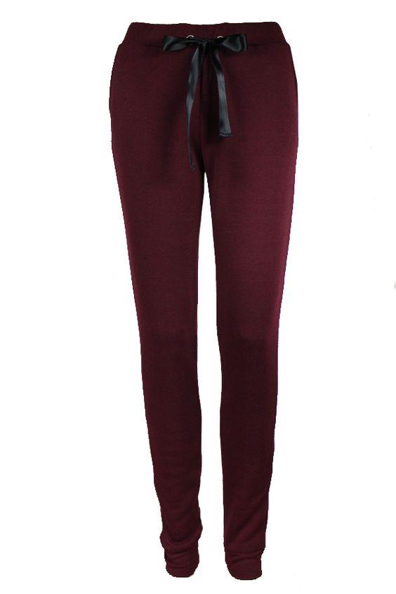 Maroon Fleece Sweatpants