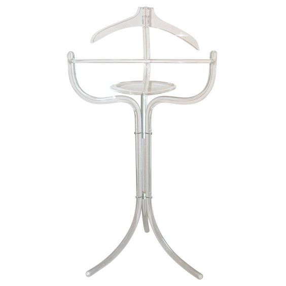 Lucite Valet | From a unique collection of antique and modern coat stands at https://www.1stdibs.com/furniture/more-furniture-collectibles/coat-stands/