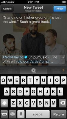 Twitter #music app for iOS launched.
