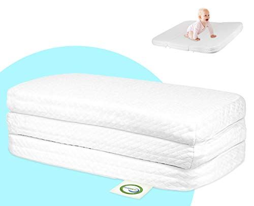 Stock Your Home Pack And Play Mattress Trifold Portable Mini Crib Roll Up Mattress Pad With High Density Foam Compare And Shop The Best Stuff Pack And Play Mattress Mini
