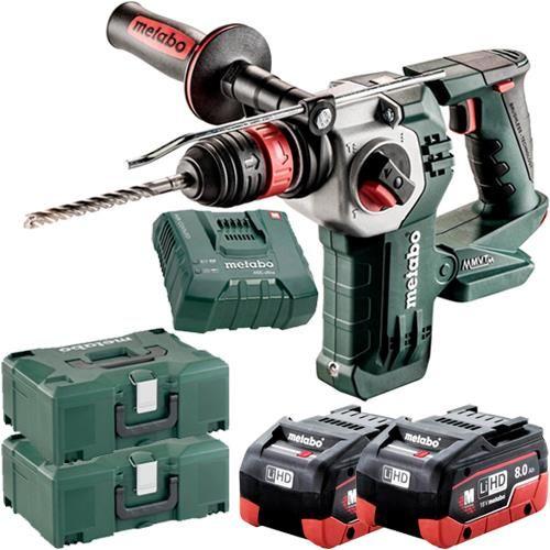 Metabo Kha18ltxbl24 Quick 18v Brushless Sds Drill 2x 8ah Lihd In 2020 Sds Drill Drill Hammer Drill