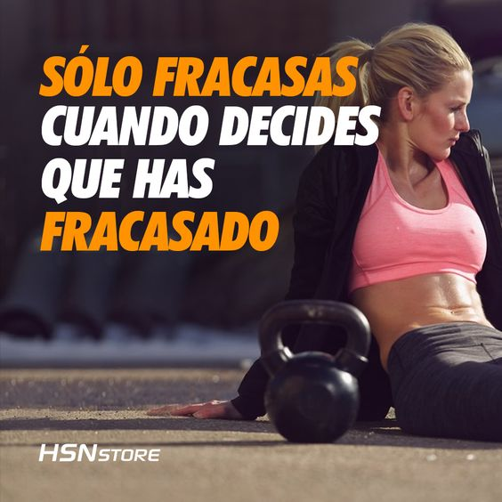 Sólo fracasas cuando decides que has fracasado #fitness #motivation #girl…