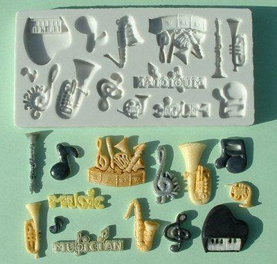 Food Grade Mold (M16)Music Theme DesignFlexible Cake