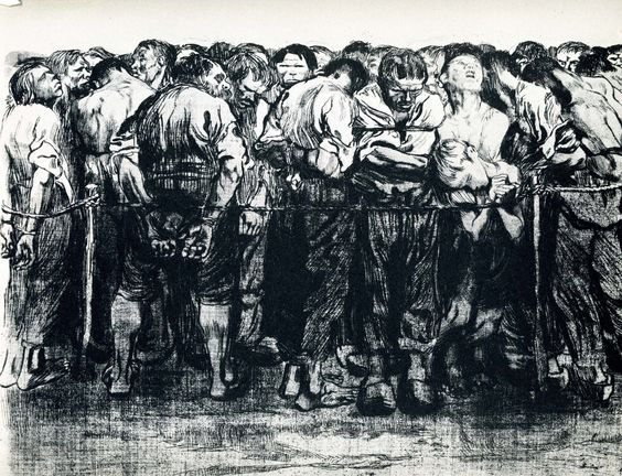 Kathe Kollwitz - The Prisoners -1908: