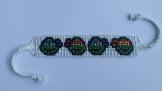 Check out this item in my Etsy shop https://www.etsy.com/listing/250295201/ninja-turtles-friendship-bracelet