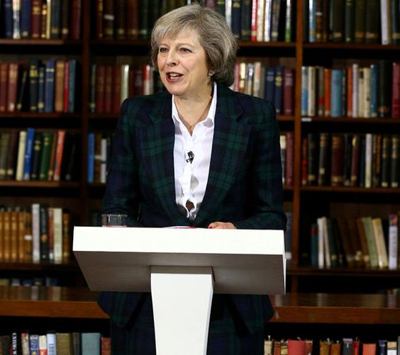 MP Theresa May announces her candidacy for the leadership of the Conservative party