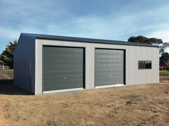 Garage Workshop 10m X 12m X 3 6m Genuine Colorbondsteel With Windspray Walls Basalt Doors Trim Fairdinkumsheds Garage Workshop Garage Shop Buildings