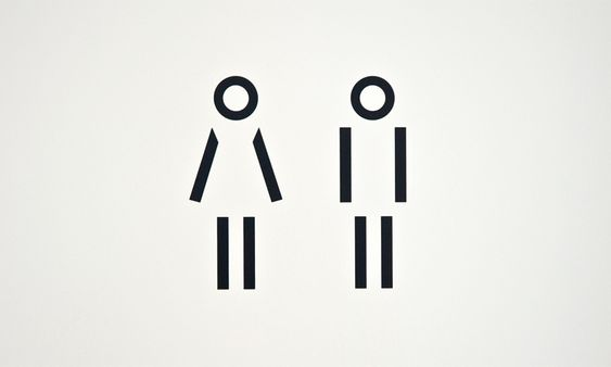 Buro4 | Fischer Property Management toilet I picto I pure I black I lines I woman vs. man