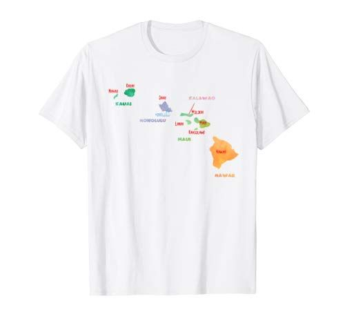 Mash Mosh T Shirt Watercolor Hawaii County Map T Shirt Capital
