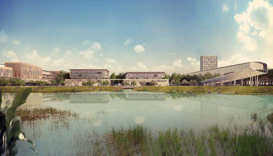 VHA Architects revela diseño de plan maestro para campus universitario en Vietnam,Cortesía de As.Architecture-Studio y VHA Architects