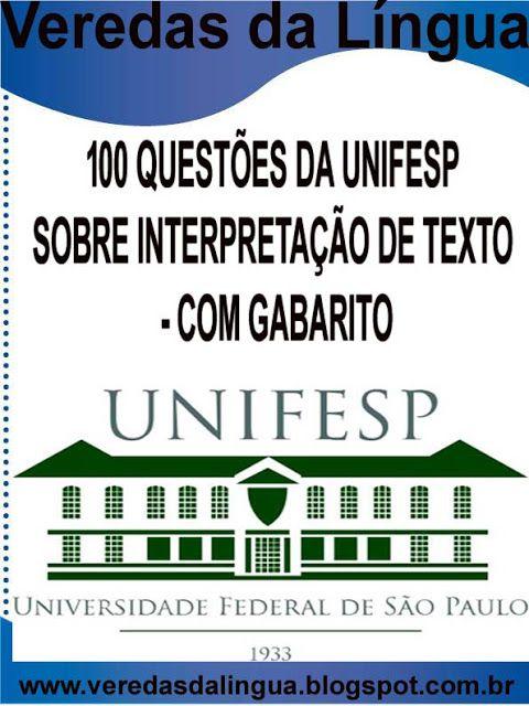 Apostila 100 Questoes Da Unifesp Sobre Interpretacao De Texto