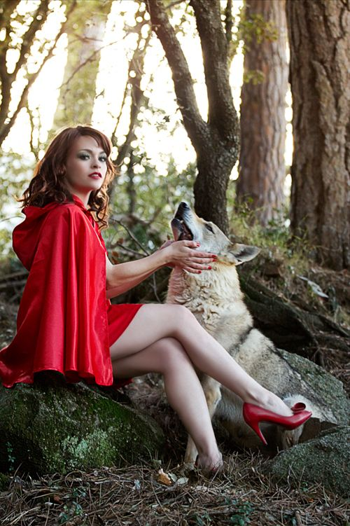 Think, Little red riding hood adult all not