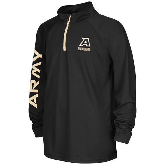 Army Black Knights Colosseum Youth Draft 1/4 Zip Jacket - Black - $26.99